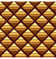 Abstract brown geometric background vector image