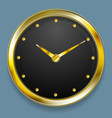 Abstract golden clock design vector image