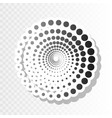abstract technology circles sign new year vector image
