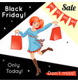 advertisement for black friday sale vector image