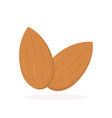 almonds icon with shadow flat style vector image