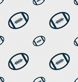 american football icon sign Seamless pattern with vector image