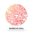 barbecue grill circle concept vector image vector image