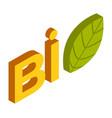 bio logo design on white background leaf vector image vector image