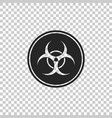 biohazard symbol icon on transparent background vector image vector image