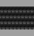 black embossed pattern plastic pentagon vector image vector image