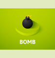 bomb isometric icon isolated on color background vector image