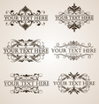 Calligraphic design element vector image