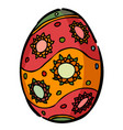 cartoon image of easter egg icon easter symbol vector image vector image