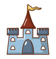 castle construction icon cartoon style vector image