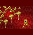 chinese new year stylized copper bronze chinese vector image vector image