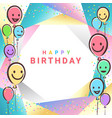 colorful birthday design banner background for vector image