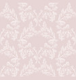 damask pattern ornament decor baroque vector image