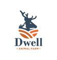 deer animal logo design vector image