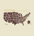 detailed vintage map united states