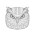 Eagle owl head Adult antistress coloring page vector image vector image