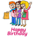 eighth birthday cartoon greeting card design vector image vector image