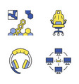 esports color icons set vector image vector image