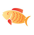 fish flat icon animal color icons in trendy flat vector image vector image