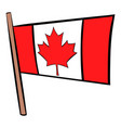 flag canada icon cartoon vector image