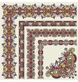 floral vintage frame design vector image vector image