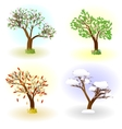 Four seasons of love vector image