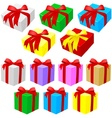 Gift Box Set vector image vector image