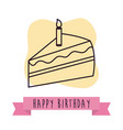 happy birthday cake design vector image vector image