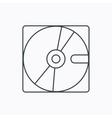 Harddisk icon Hard drive storage sign vector image
