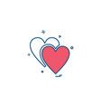 heart icon design vector image vector image