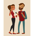 hipster couple vector image