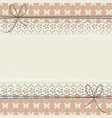 horizontal lace frame with flowers butterflies vector image vector image