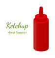 ketchup sauce bottle cartoon flat style vector image vector image