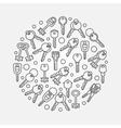 Keys circular vector image vector image