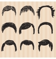 mens collection for hair styling vector image vector image