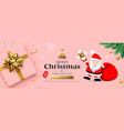 merry christmas sale santa claus with gift box vector image vector image