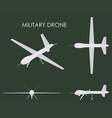 military drone predator vector image vector image