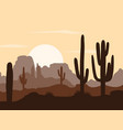 morning landscape with saguaro cacti vector image
