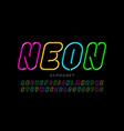 neon style font design alphabet letters vector image