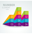 Number list perspective arrow cursor element set