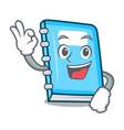 okay education character cartoon style vector image