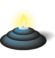 old fashioned candle with candlestick vector image vector image