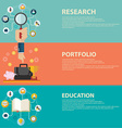 Online education and business portfolio banners vector image