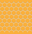 orange honeycomb pattern seamless on white vector image vector image