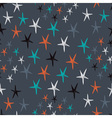Pattern with hand drawn stars vector image