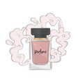 perfume sketch with aroma cloud vector image