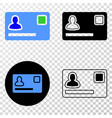 personal credit card eps icon with contour vector image