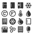refrigerator icons set on white background vector image vector image