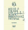sea font vector image