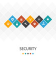 security trendy ui template infographics concept vector image vector image